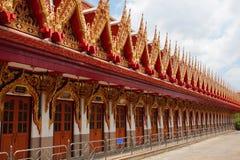 Thai temple. The Thai temple in Bangkok Royalty Free Stock Photos