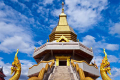 Thai temple. In the northeast Royalty Free Stock Image