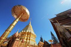 Thai temple. Doi Suthep temple on north of thailand Stock Images