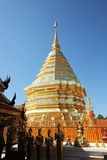 Thai temple. Doi Suthep temple on north of thailand Royalty Free Stock Photography