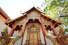 Thai temple. Doi Suthep temple on north of thailand Royalty Free Stock Images