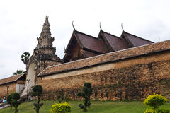 Thai temple. Church of Thai temple in north of Thailand Royalty Free Stock Photos