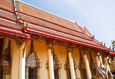 Thai temple. Royalty Free Stock Photos
