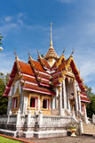 Thai temple. Songkhla, Thailand Generality in Thailand, any kind of art decorated in Buddhist church, temple pavilion, temple hall, monk's house etc. created stock images