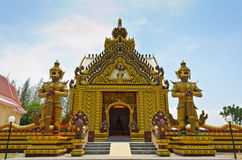 Thai Temple. Chapel of the Thai temple, Unusual in Hua Hin, Thailand Royalty Free Stock Images