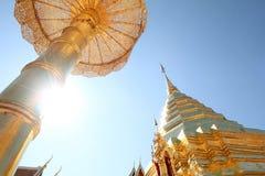 Thai temple. On Doi Suthep Chiamgmai hill, thailand Stock Image