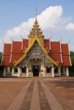 Thai temple. Thai Buddhist temple in Lamphun Thailand. Beautiful landmark stock photo