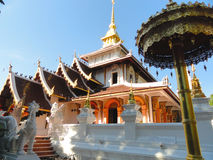 Thai temple. Beautiful Temple in chiangmai,thailand stock images