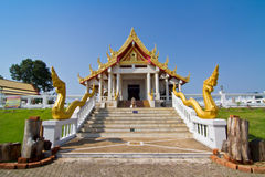 Thai temple against blue sky Royalty Free Stock Image