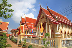 Thai Temple architecture against blue sky royalty free stock images