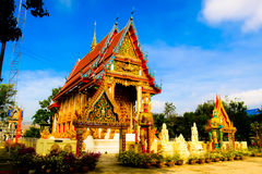 Thai temple architecture Royalty Free Stock Images