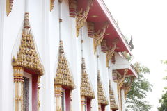 Thai temple architecture Stock Photo
