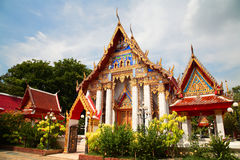 Thai temple architecture in Pathum Thani, Thailand Stock Images