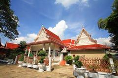 Thai temple architecture of wat Chalerm Phrakiat Stock Photography