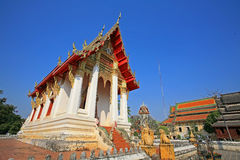 Thai Temple architecture at wat Thung Si Muang Stock Photography