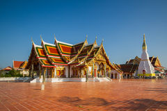 Thai Temple art decorated in Buddhist church. Temple pavilion, temple hall, monk's house Stock Photos