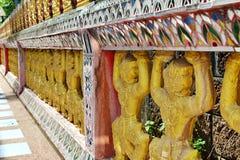 Thai temple art. Thai temple fence art in Thailand Royalty Free Stock Photo