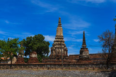 Thai temple at Ayutthaya in Thailand. And most famous for tourist take photo from the river Stock Photo