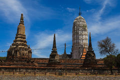 Thai temple at Ayutthaya in Thailand. And most famous for tourist take photo from the river Stock Photos