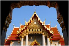 Thai Temple. In Bangkok Stock Images