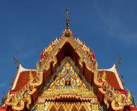 Thai temple bathed in morning light Royalty Free Stock Photography