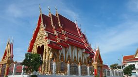 Thai temple bathed in morning light stock video