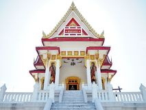 Thai temple. Beautiful temple with clear sky Royalty Free Stock Photography