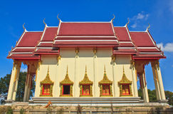 Thai Temple Beautiful golden chapel Royalty Free Stock Images