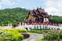 Thai temple and beautiful nature Stock Photography