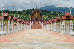 Thai temple and beautiful nature Stock Images