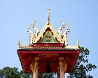Thai temple bell tower Royalty Free Stock Photo