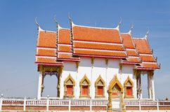 Thai Temple with blue sky Stock Images