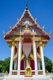Thai temple in blue sky Stock Images