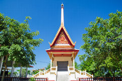 Thai temple in blue sky Royalty Free Stock Image