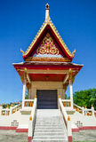 Thai temple in blue sky Stock Photo