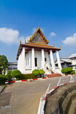 Thai temple and blue sky Royalty Free Stock Images
