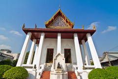 Thai temple and blue sky Stock Photos