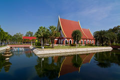 Thai temple and blue sky Stock Photo