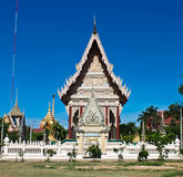 Thai temple. And blue sky Royalty Free Stock Photo