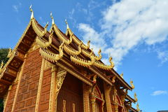 Thai temple. With blue sky Stock Images