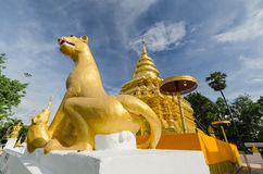 Thai temple with blue sky Royalty Free Stock Images