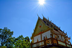 Thai temple with blue sky Royalty Free Stock Image