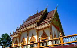 Thai temple with blue sky Stock Photos