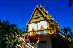 Thai temple with blue sky Royalty Free Stock Photo