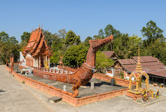 Thai temple in boat shape. Thai temple in the shape of the Suphannahong Barge, Thailand. Photo taken on January 11, 2014 Stock Photography