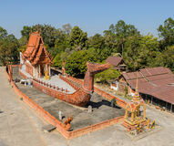 Thai temple in boat shape, Thailand. Wat Sa Prasan Suk in the shape of the Suphannahong Barge in Ubon Ratchathani, Thailand. Photo taken on January 11, 2014 Stock Photos
