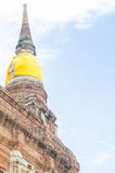 Thai Temple and Buddha Statue at Ayutthaya city. Temple at Ayutthaya city in thailand Stock Photos