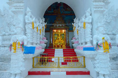 Thai temple of buddhism, lamphun Royalty Free Stock Images
