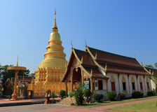 Thai temple of buddhism,Wat Phra That Hariphunchai in lamphun Royalty Free Stock Photography