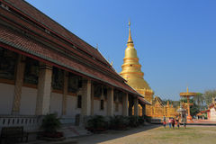 Thai temple of buddhism,Wat Phra That Hariphunchai in lamphun Royalty Free Stock Photos